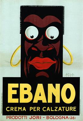 Mixed Media - Ebano Crema Per Calzature - Italian Shoe Polish - Vintage Advertising Poster by Studio Grafiikka