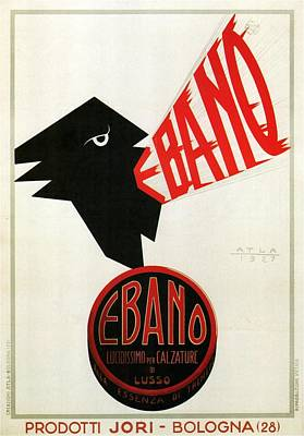 Mixed Media - Ebano Lucidissimo Per Calzature - Shoe Polish - Vintage Advertising Poster by Studio Grafiikka