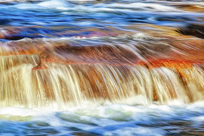 Print featuring the photograph Ebb And Flow, Noble Falls by Dave Catley