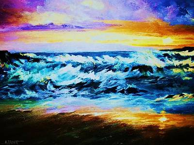 Painting - Ebb Tide At Sunset by Al Brown