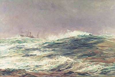 Inclement Painting - Ebb Tide by William Lionel Wyllie