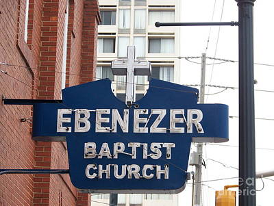 Photograph - Ebenezer Baptist Church by Kevin Croitz
