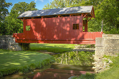 Photograph - Ebenezer Church Covered Bridge by Jack R Perry