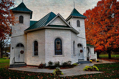 Ebenezer United Methodist Church Print by Todd Hostetter