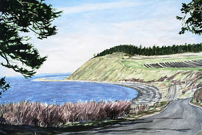 Ebey's Landing Art Print by Perry Woodfin