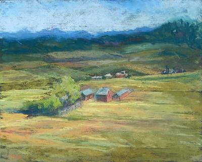 Pastel - Ebeys Prairie by Marlene Kingman