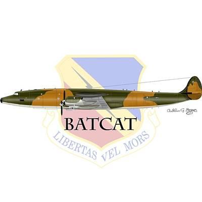 Digital Art - Ec-121r Batcat 388tfw by Arthur Eggers