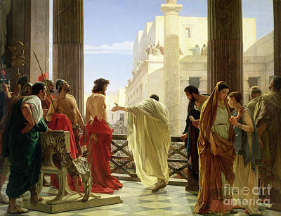 Crowds Painting - Ecce Homo by Antonio Ciseri