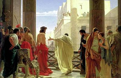 Painting - Ecce Homo by Antonio Ciseri