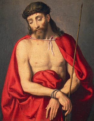 Tied-up Painting - Ecce Homo by Giovanni Battista Moroni