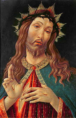 Tempera Painting - Ecce Homo Or The Redeemer by Botticelli