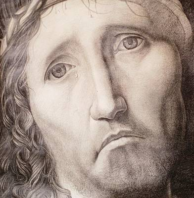 Crying Drawing - Ecce Homo by Roland Pangrati