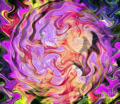 Circle Abstracts Digital Art - Eccentric Eclipse by Krissy Katsimbras