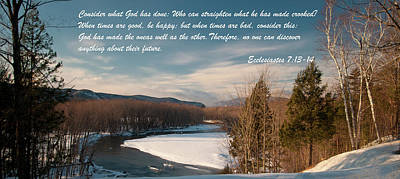 Photograph - Ecclesiastes 7 13-14  by Paul Mangold
