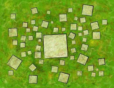 Eccletinos V1 - Mosaic Map Art Print by Cersatti