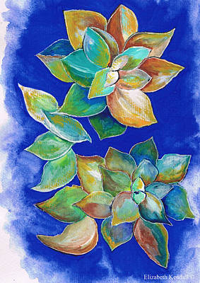 Painting - Echeveria - Art by Elizabeth Kendall