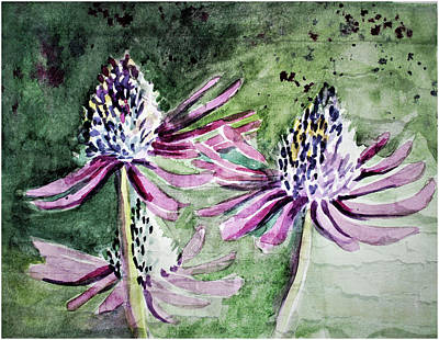 Painting - Echinacea Cone Flower by Mindy Newman
