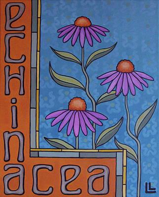 Painting - Echinacea by Lindi Levison