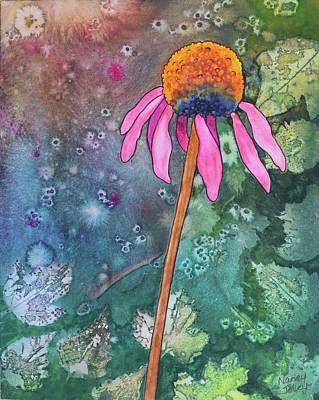 Painting - Echinacea by Nancy Jolley