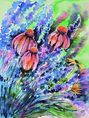 Painting - Echinacea by Zaira Dzhaubaeva