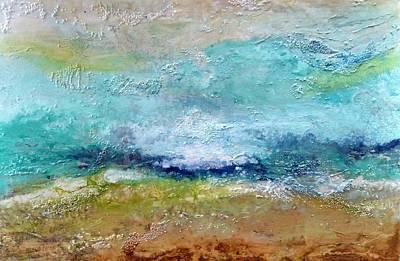 Beach Landscape Mixed Media - Echo By The Sea by Cecelia Rust-Barlow