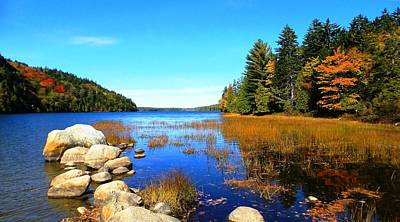 Photograph - Echo Lake-acadia National Park by Mike Breau