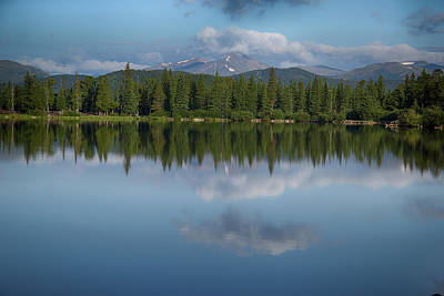 Photograph - Echo Lake And Alpine Peak by Marie Leslie