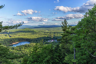 Photograph - Echo Lake From Cathedral Ledge by Brian MacLean