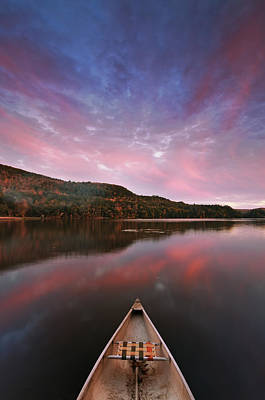 Vermont Photograph - Echo Lake Sunset by Joseph Rossbach