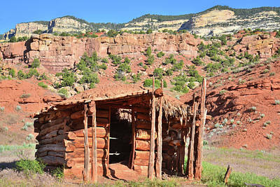 Photograph - Echo Park Cabin In Dinosaur National Monument by Ray Mathis