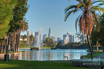 Photograph - Echo Park Downtown Los Angeles 2 by David Zanzinger