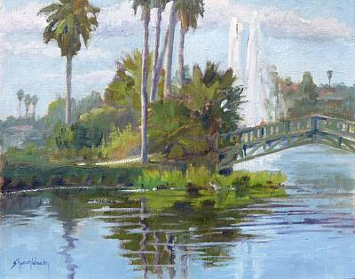 Painting - Echo Park Morning by Sharon Weaver