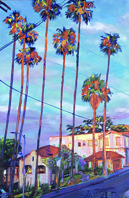 Painting - Echo Park Sentinels by Bonnie Lambert