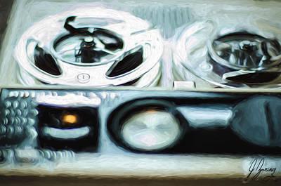 Analog Painting - Echo Reel To Reel by Joshua Zaring
