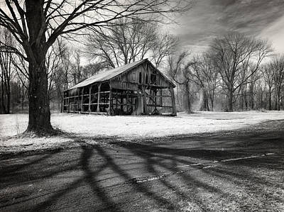 Ghostly Barn Photograph - Echoes From The Past by Luke Moore