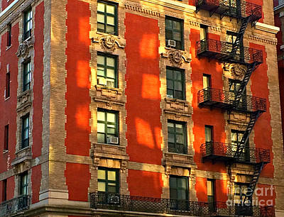 Photograph - Echoes Of Another Era - Fire Escapes Of New York by Miriam Danar