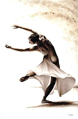 Shadow Dancing Painting - Eclectic Dancer by Richard Young