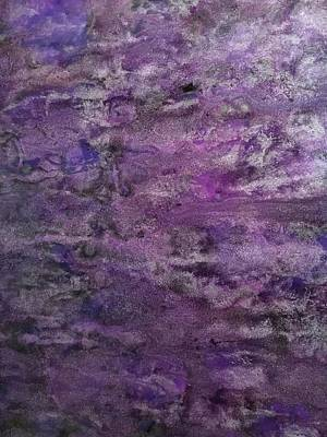 Eclectic Eggplant Art Print by Marie Haley-Twaddle