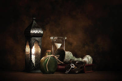 Candle Lit Photograph - Eclectic Ensemble by Tom Mc Nemar