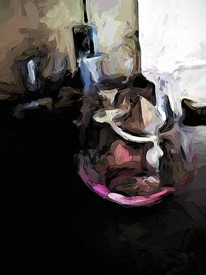 Digital Art - Eclectic Pink Glass by Jackie VanO