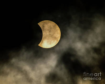 Photograph - Eclipe Thru The Clouds by Nick Zelinsky