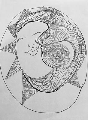 Eclipse Drawing - Eclipse 2 by Rosalinde Reece