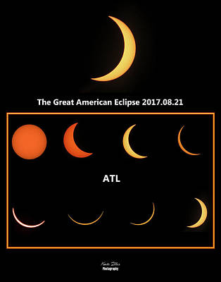Digital Art - eclipse 2017 ATL by Kathleen Illes