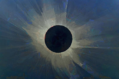 Digital Art - Eclipse 2017 by Charlie Roman