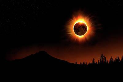 Photograph - Solar Eclipse 2017 - Close Up by Lori Grimmett