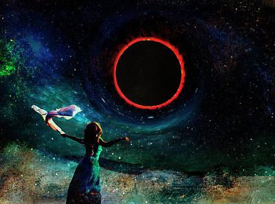 Digital Art - Eclipse 2017  by Sandra Selle Rodriguez
