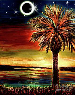 Digital Art - Eclipse 2017 South Carolina by Patricia L Davidson