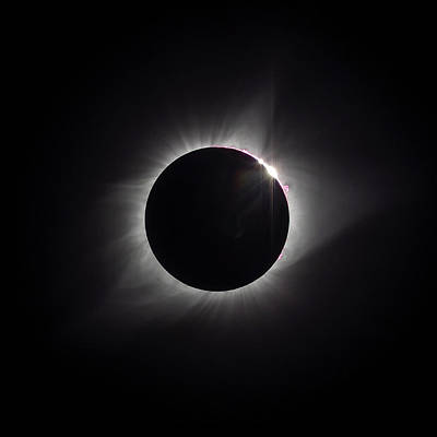 Photograph - Eclipse 2017 by Van Sutherland