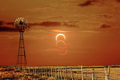 Photograph - Eclipse And Lens Flares by Scott Cordell