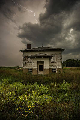 Old School House Photograph - Eclipse Apocalypse by Aaron J Groen
